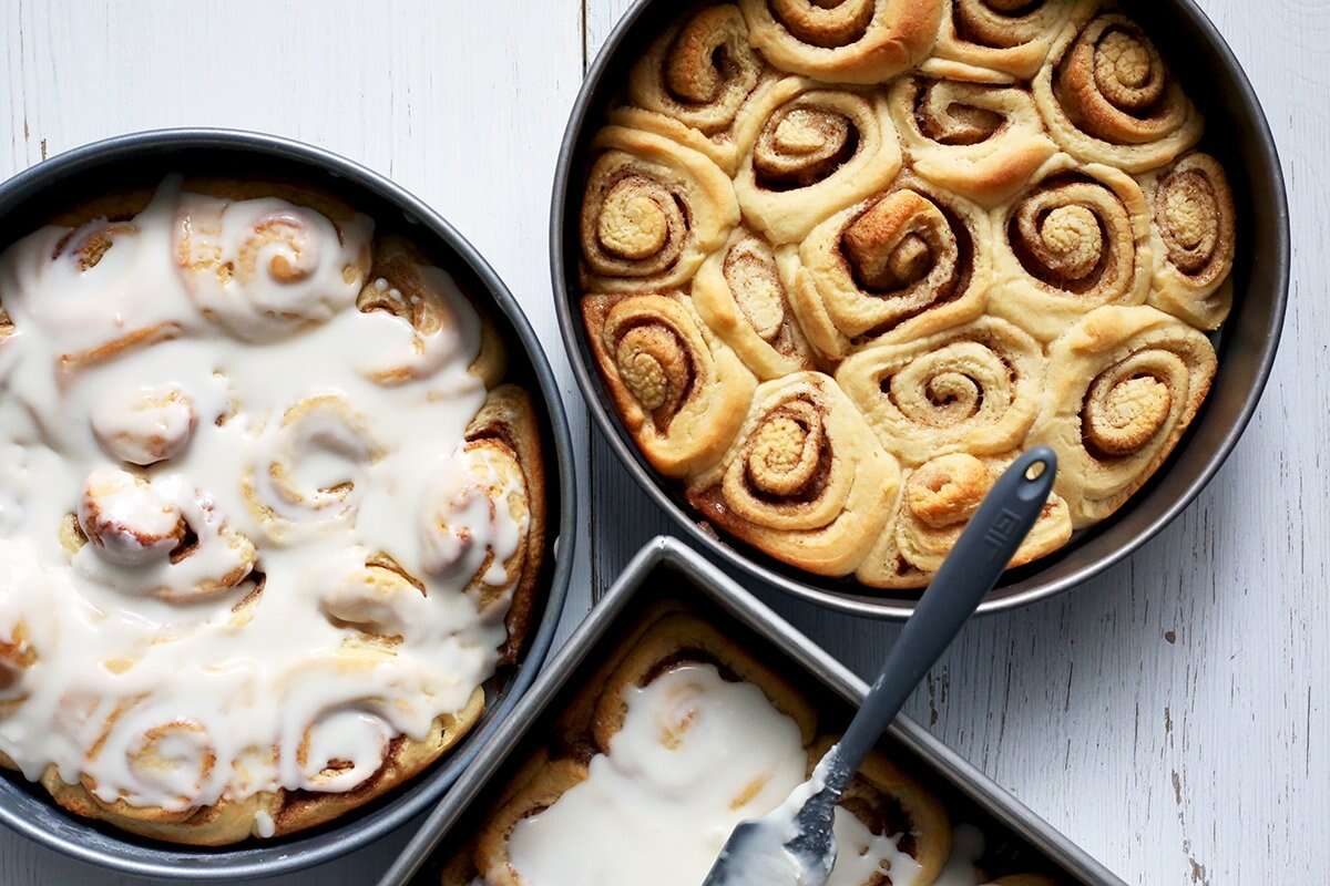 Big Batch Cinnamon Rolls via @kingarthurflour