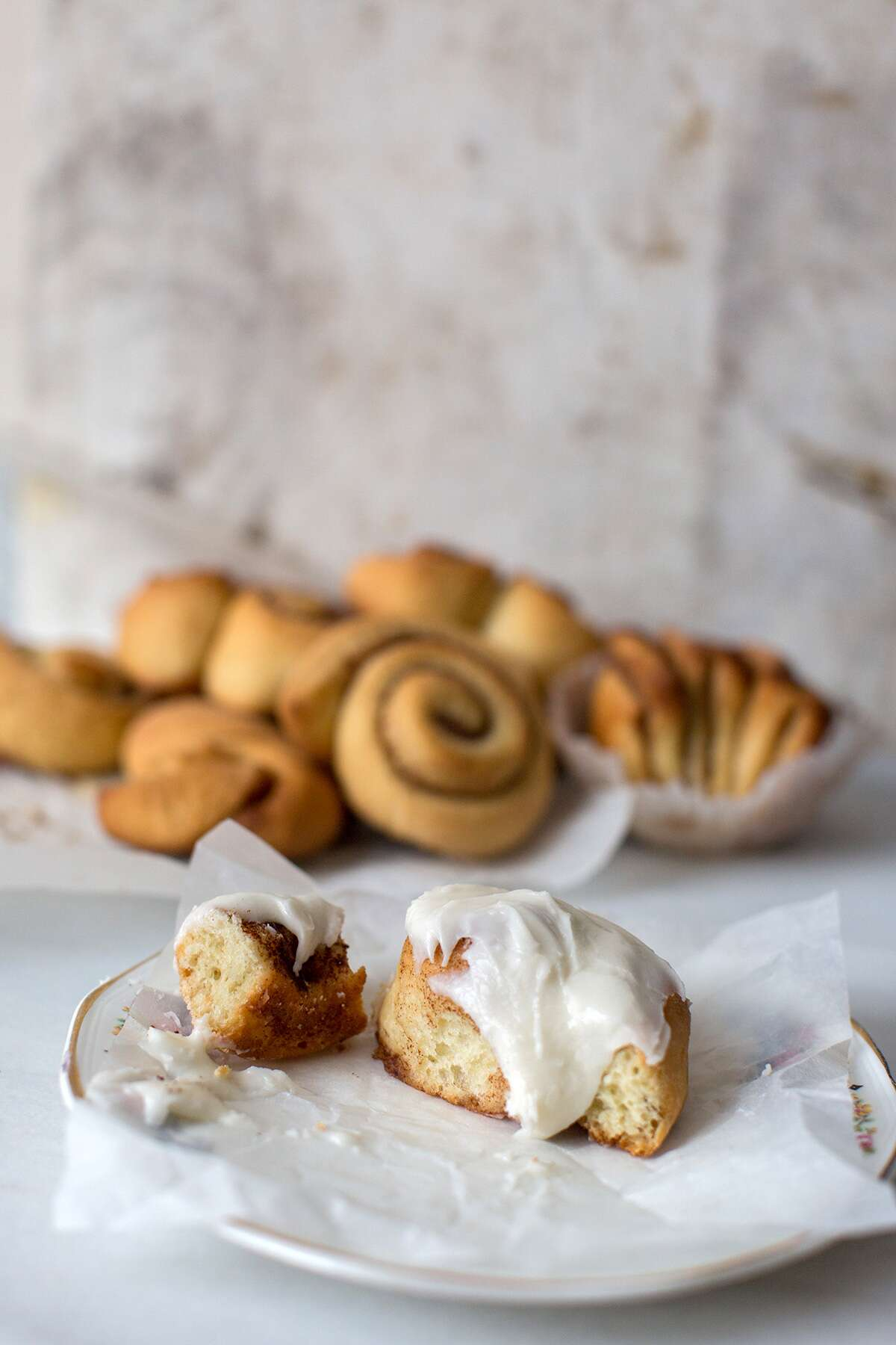 Making cinnamon rolls at home via @kingarthurflour