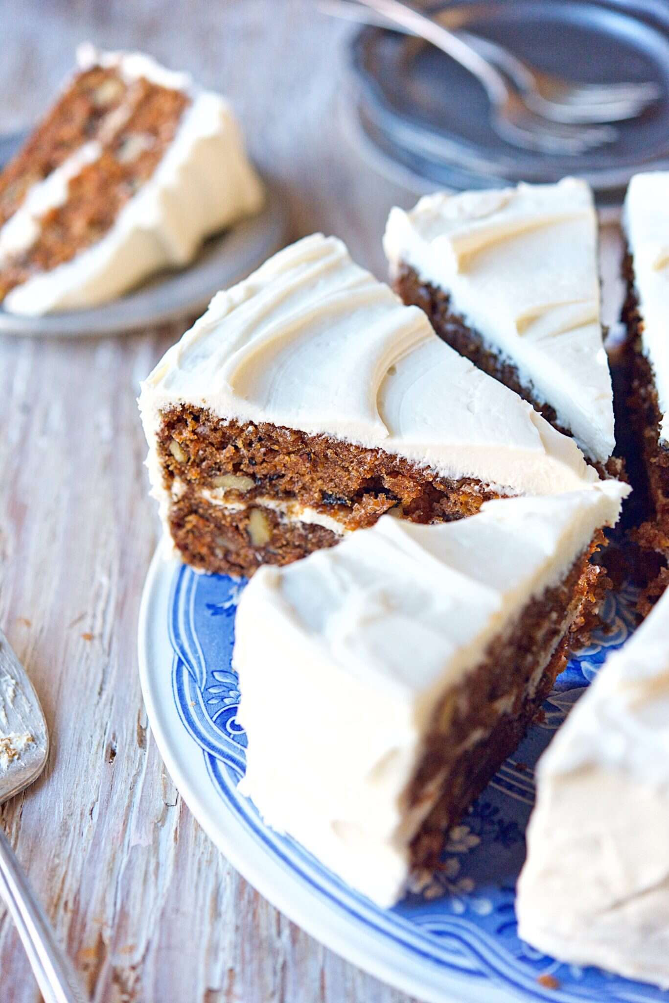 Carrot cake via @kingarthurflour