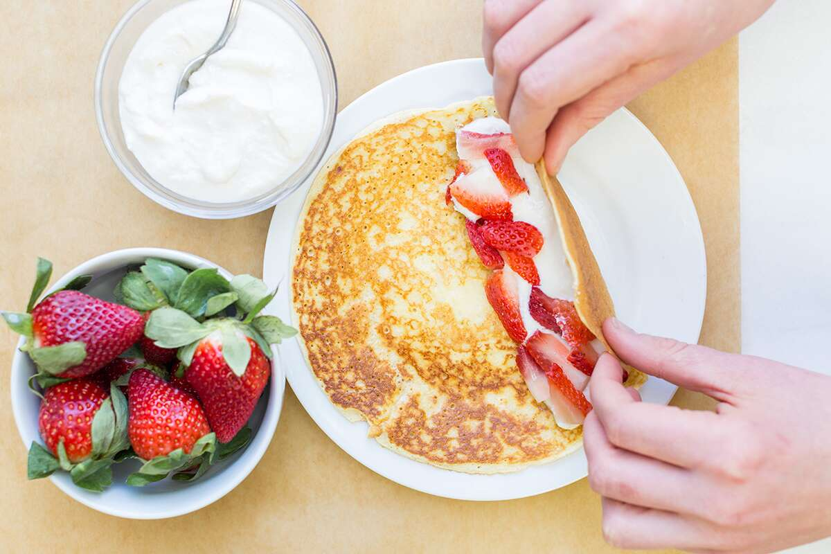 How to make thin and delicate pancakes via @kingarthurflour