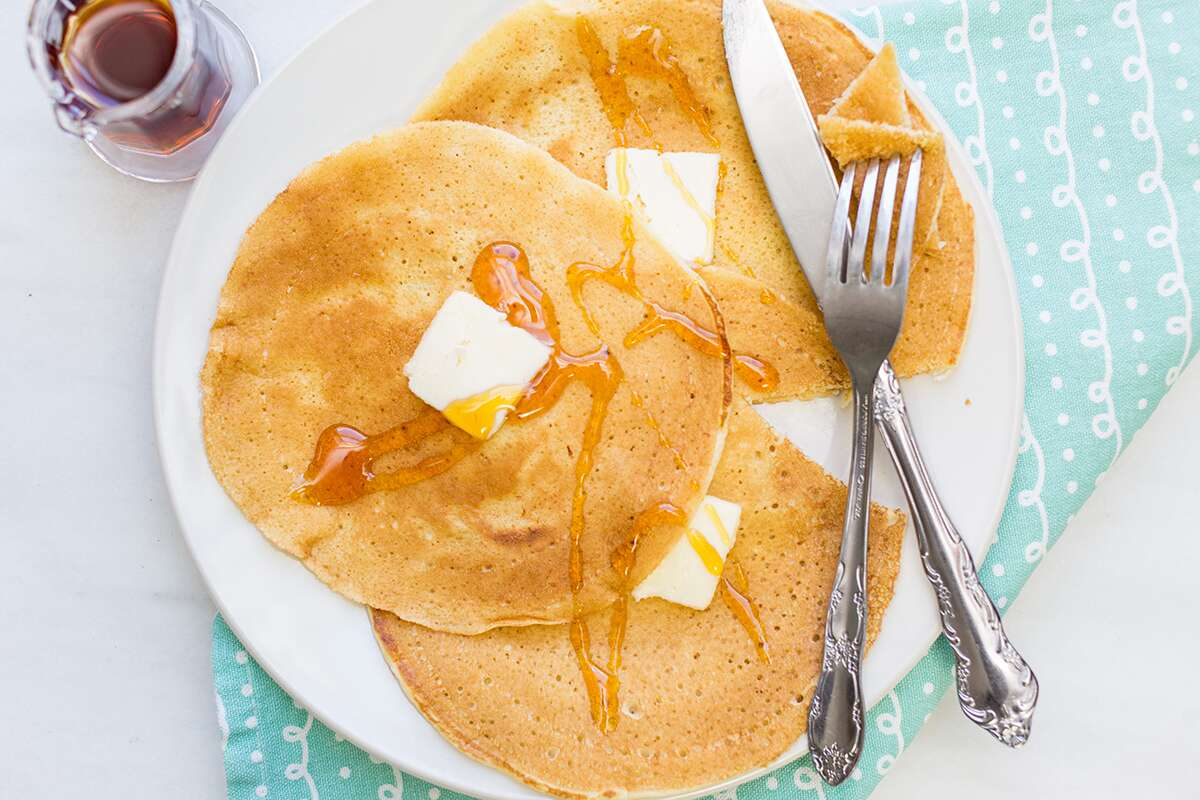 How to make delicate and thin pancakes via @kingarthurflour