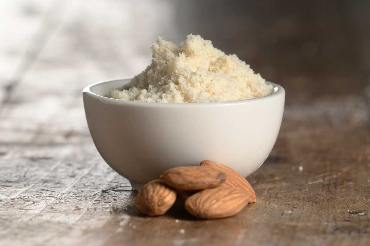 Almond flour in small bowl