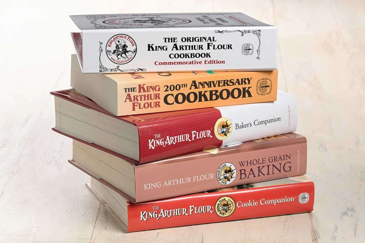 Stack of King Arthur cookbooks