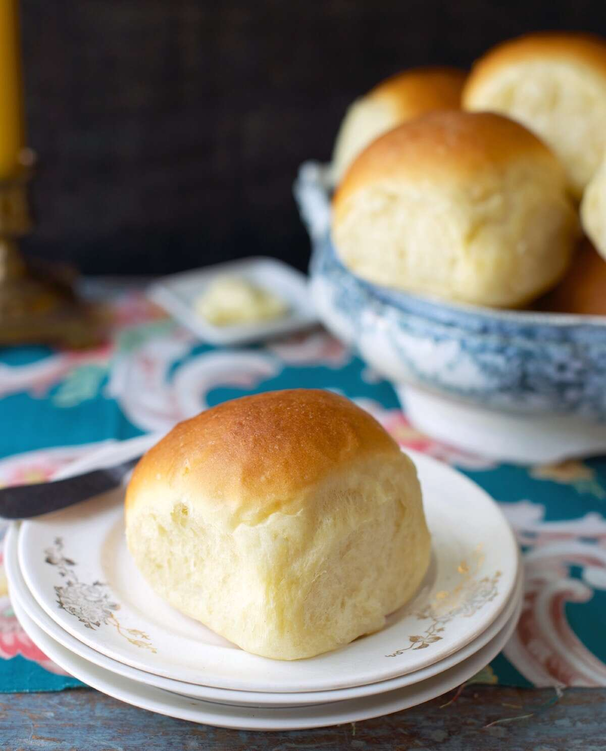 Amish Dinner Rolls fresh from the oven.