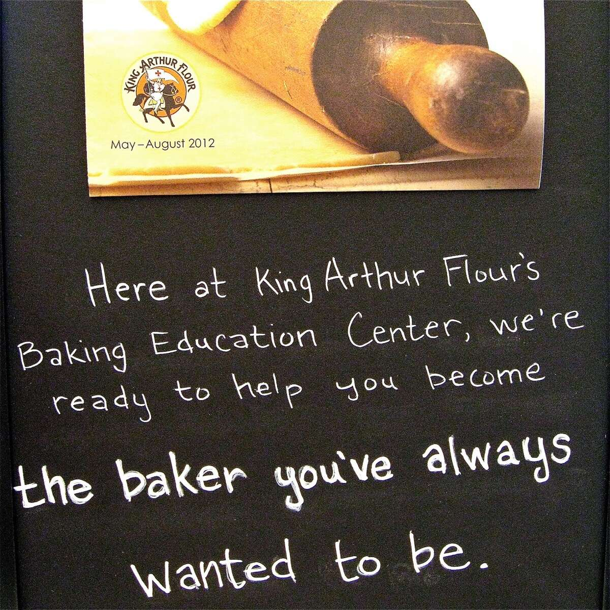 Sign offering classes at the King Arthur Baking Education Center in 2012.