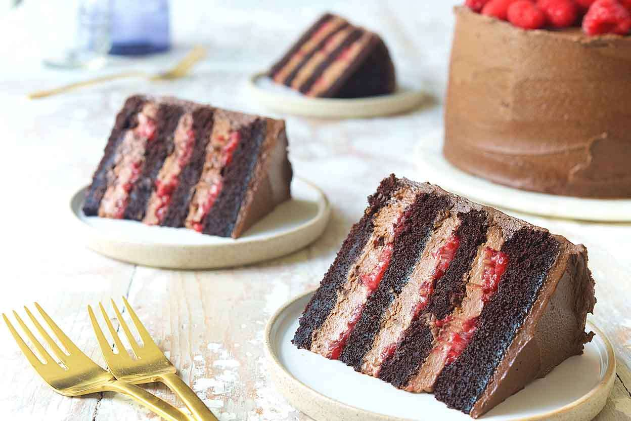 Chocolate Mousse Cake with Raspberries | King Arthur Flour