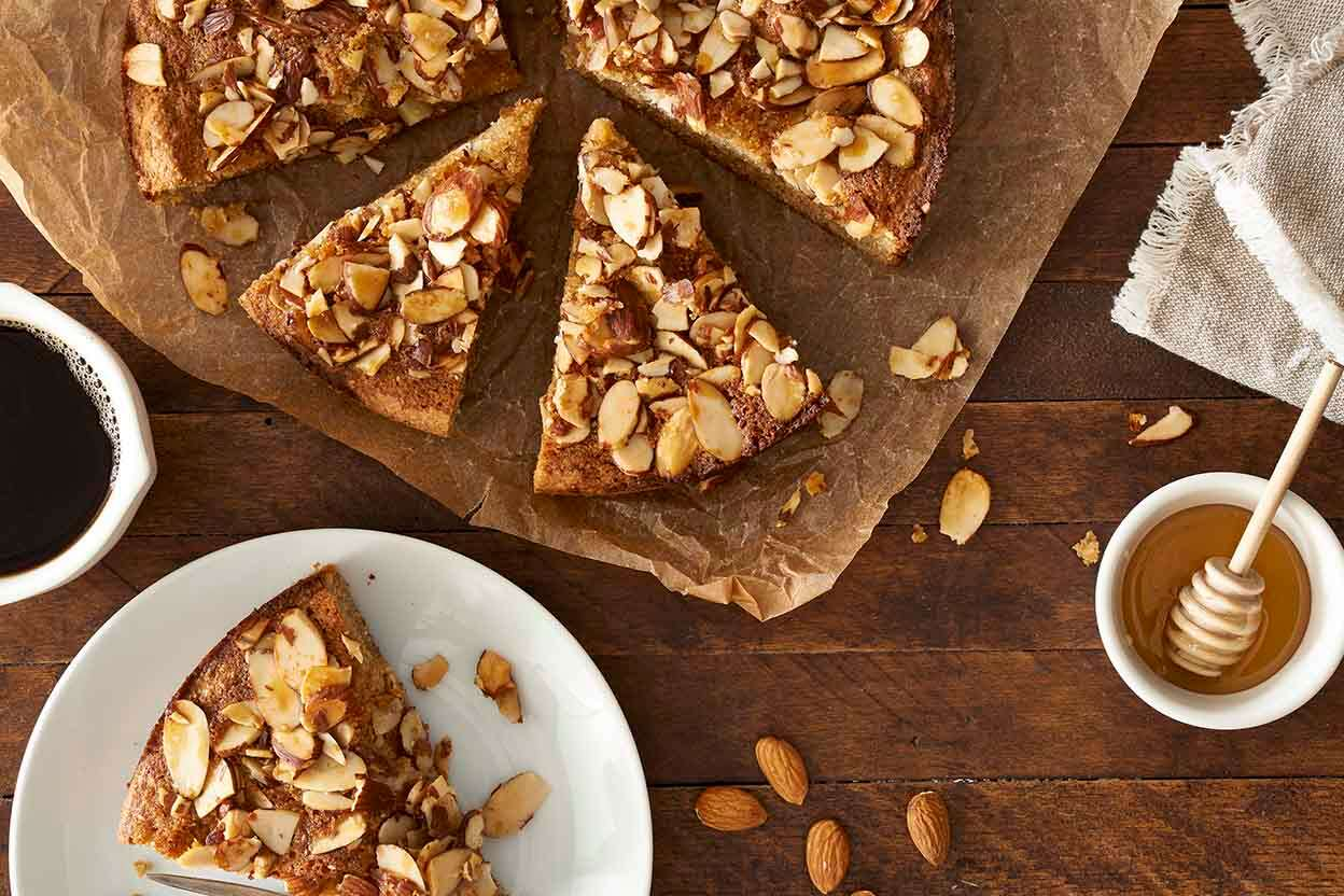 Paleo Honey-Almond Coffeecake