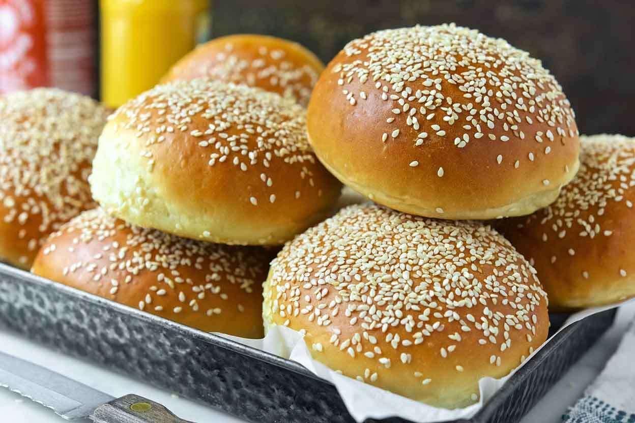 Beautiful Burger Buns King Arthur Flour