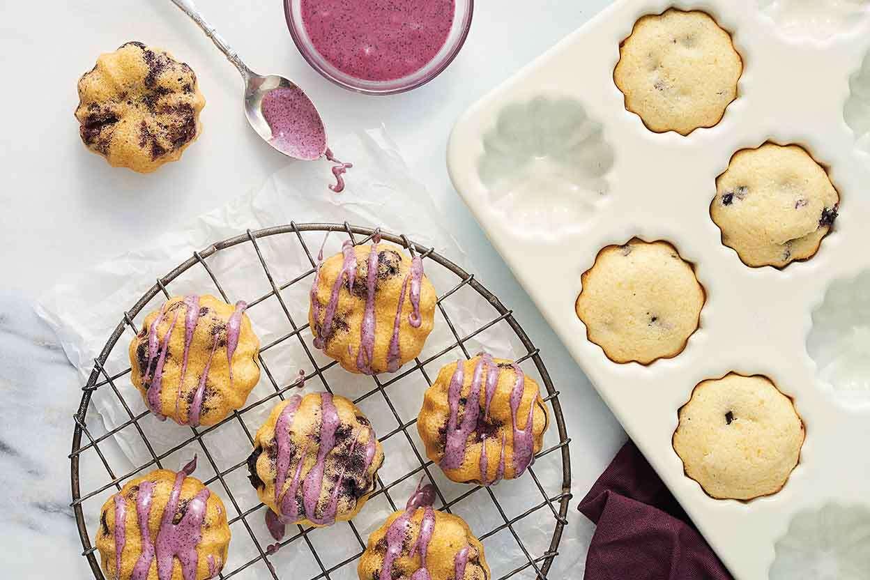 Lemon Blueberry Cornmeal Cakes