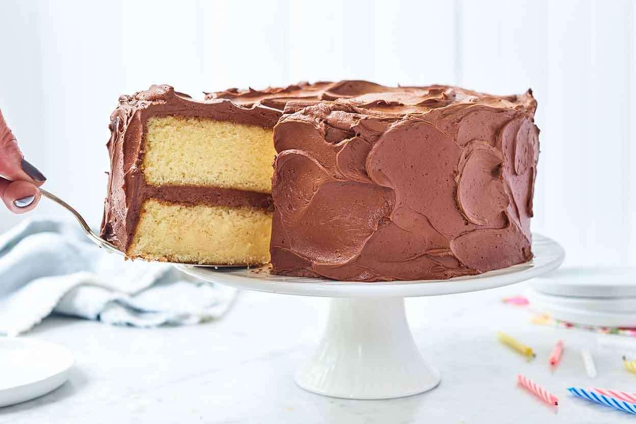 Superb Classic Birthday Cake King Arthur Flour Funny Birthday Cards Online Fluifree Goldxyz