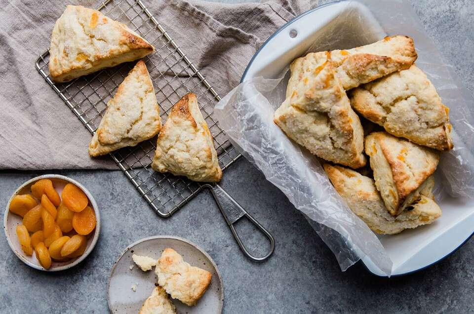 Apricot Cream Cheese Scones