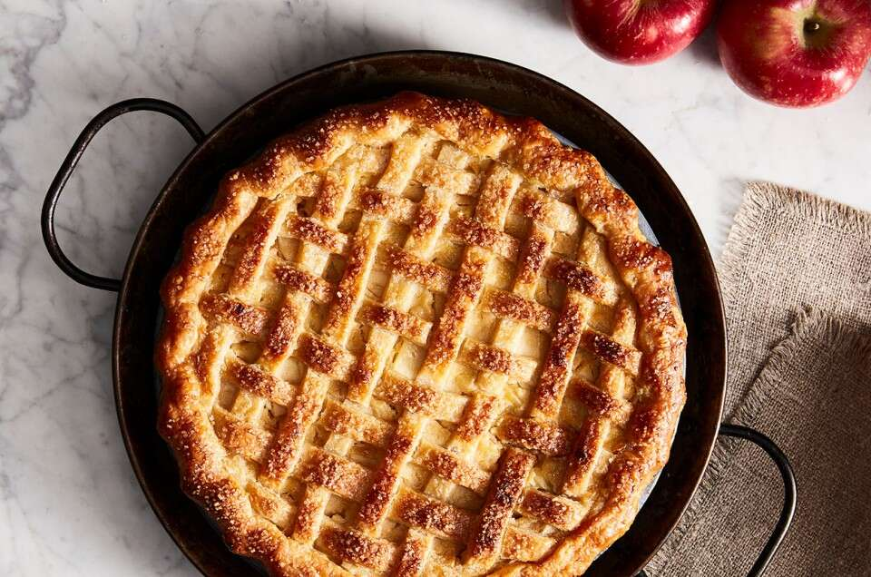 Gingered Apple Cream Pie