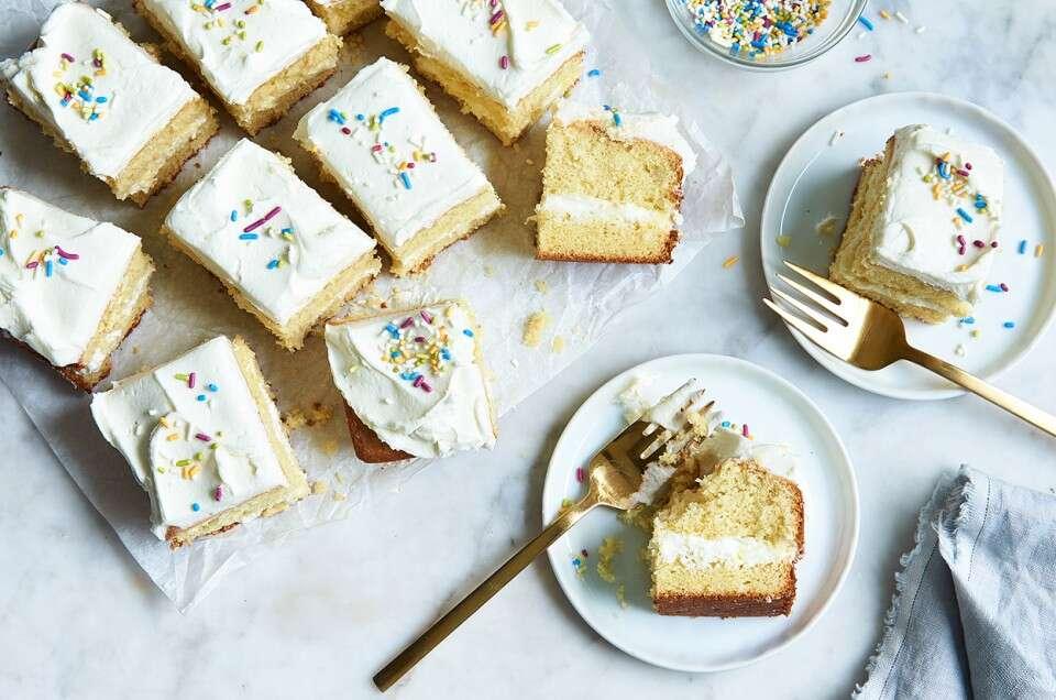 Gluten Free Vanilla Cake Made With Baking Mix