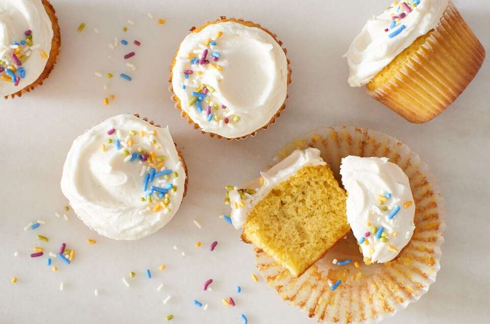 Gluten Free Vanilla Coconut Flour Cupcakes
