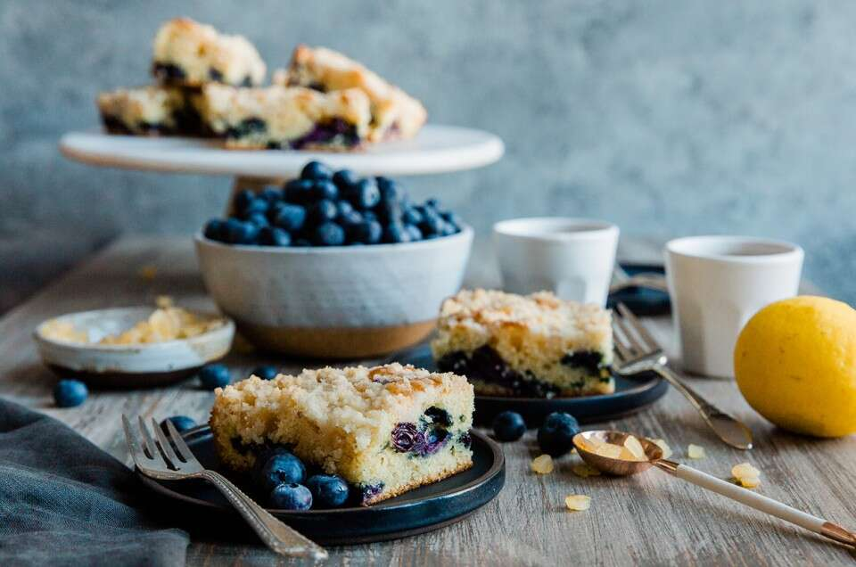 Blueberry Coffeecake with Lemon Streusel