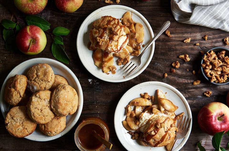 Caramel Apple Biscuits