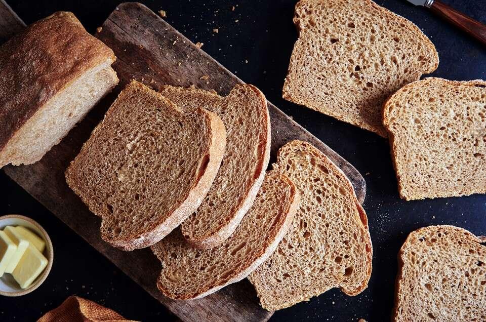 Whole Wheat Sourdough Bread   King