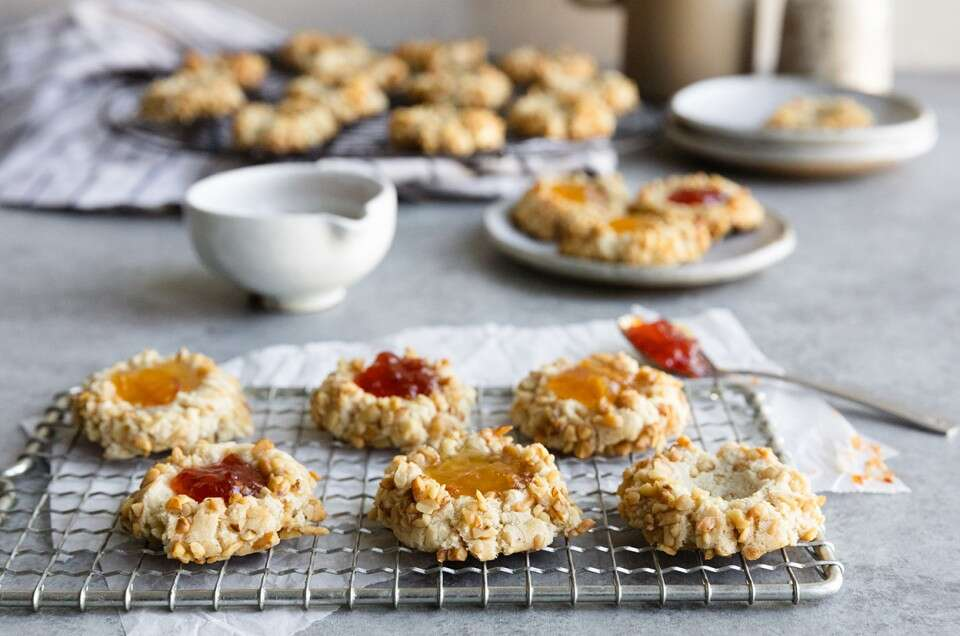 Gluten-Free Thumbprint Cookies - select to zoom