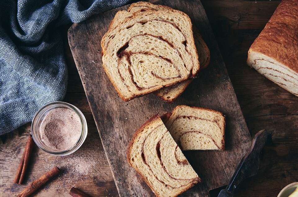 100% Whole Wheat Cinnamon Swirl Bread - select to zoom