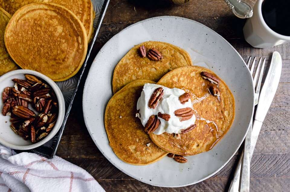 Gluten-Free Pumpkin Pancakes - select to zoom