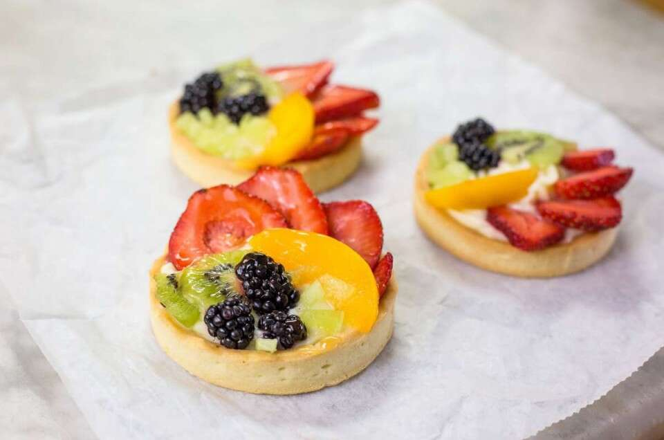 Three fruit tarts