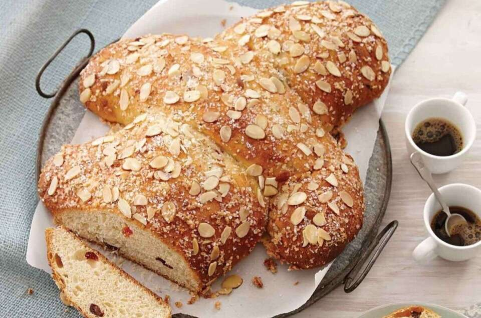Loaf of Colomba Pasquale (Easter Dove Bread)