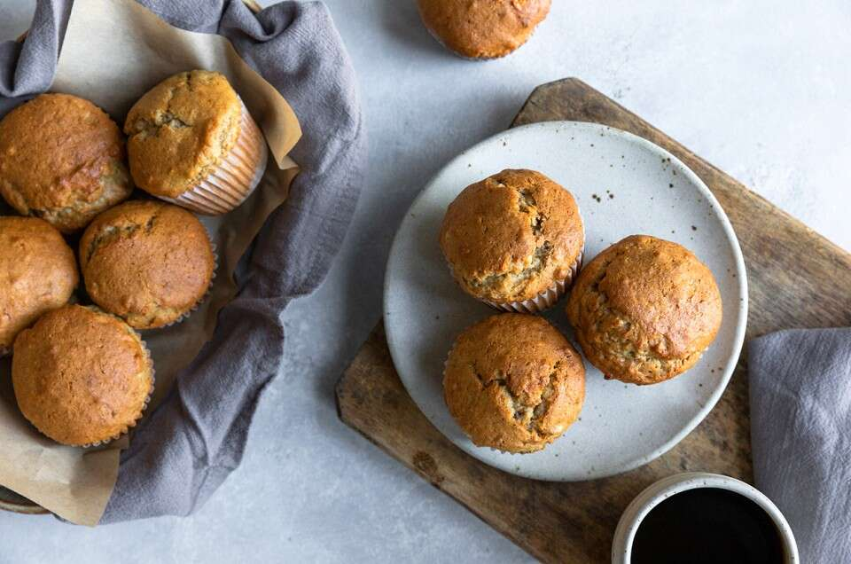 Gluten-Free Whole Grain Banana Muffins - select to zoom