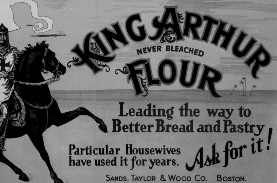 Old banner for King Arthur Flour