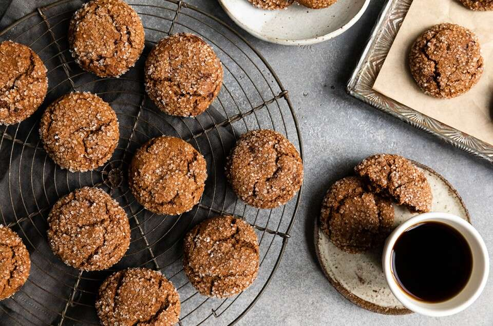 Gluten-Free Cocoa Molasses Cookies - select to zoom