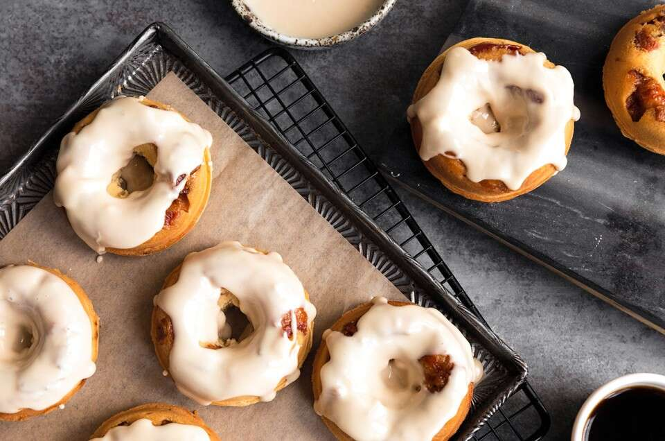 Maple-Glazed Bacon Doughnuts - select to zoom