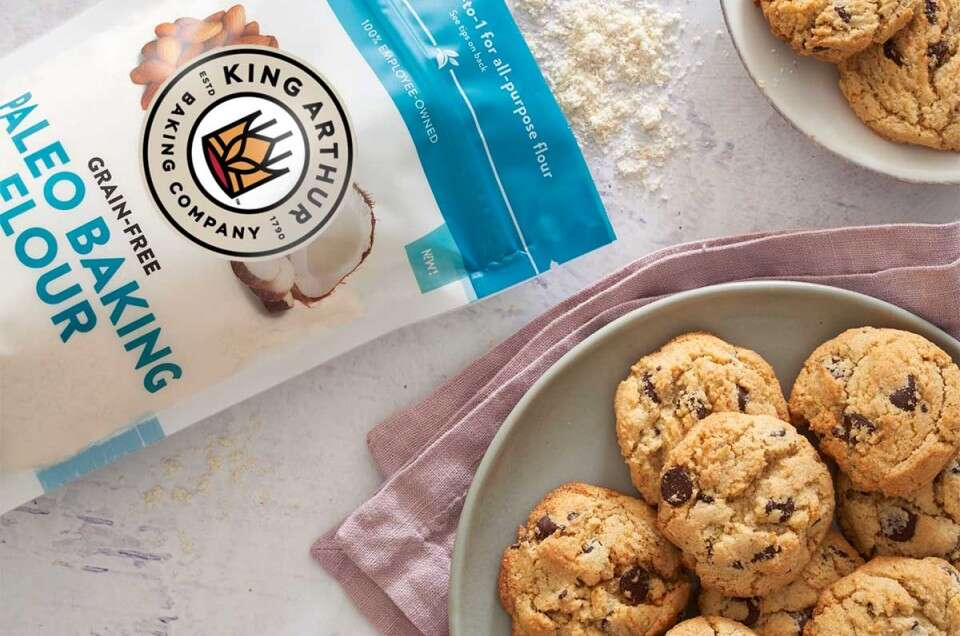 Paleo Baking Flour bag next to cookies
