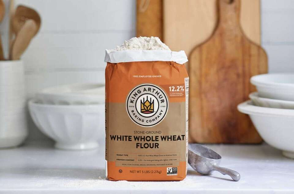 Bag of white whole wheat flour