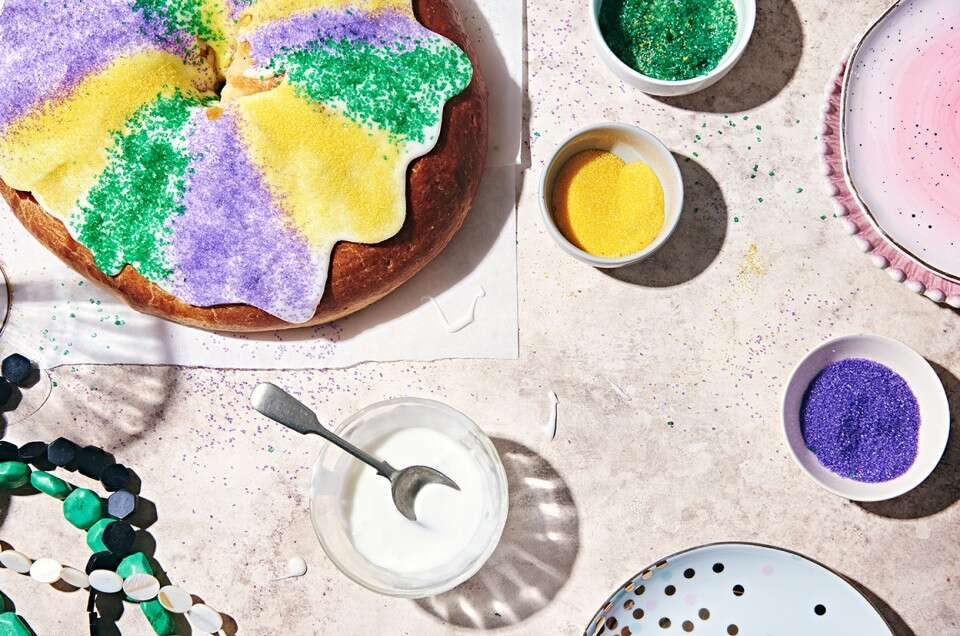 Mardi Gras King Cake - select to zoom