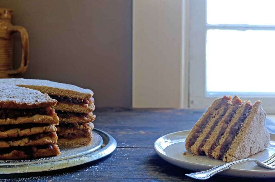 Appalachian Stack Cake via @kingarthurflour