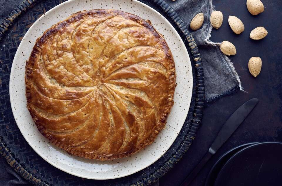 Almond Galette via @kingarthurflour