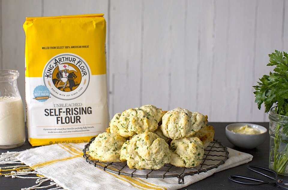 Easy Herb Biscuits via @kingarthurflour