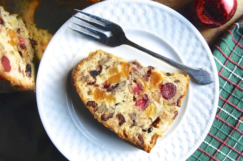 Fruit Cake Bundt via @kingarthurflour