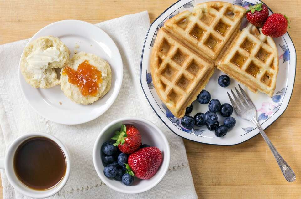 Dairy-free breakfast via @kingarthurflour