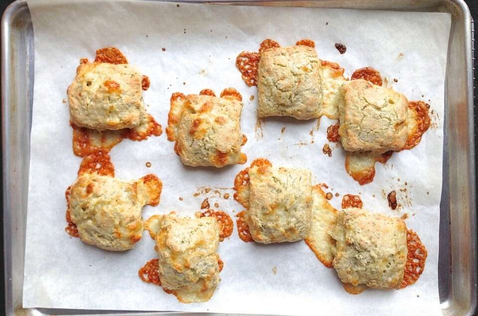 Cheddar, Herb, and Garlic Biscuits | King Arthur Flour