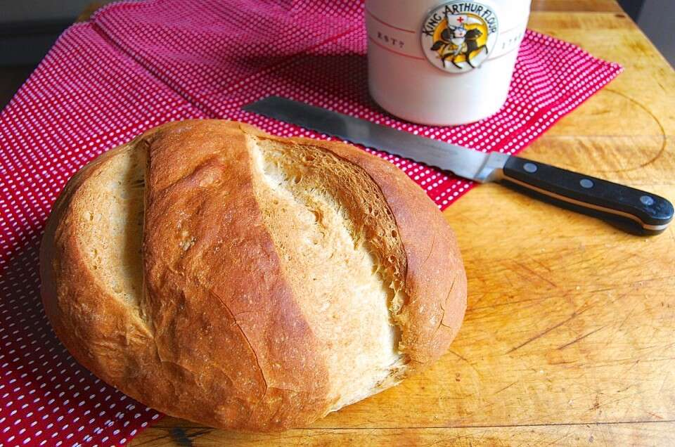 Rustic Sourdough Bread via @kingarthurflour