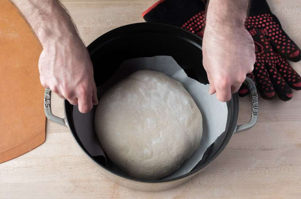 Transferring Bread Dough via @kingarthurflour