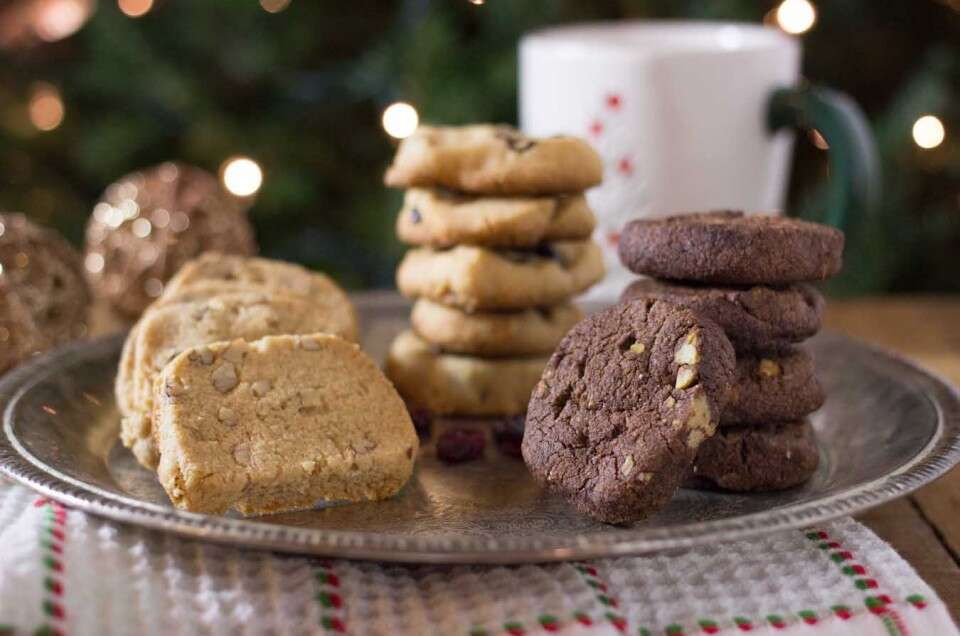 Almond Flour Shortbread Cookies in 3 varieties