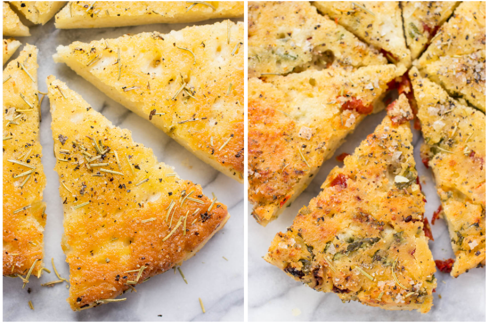 Gluten-Free Focaccia Recipe: 2 Ways via @kingarthurflour