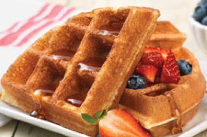 Gluten-Free Belgian Waffles made with baking mix