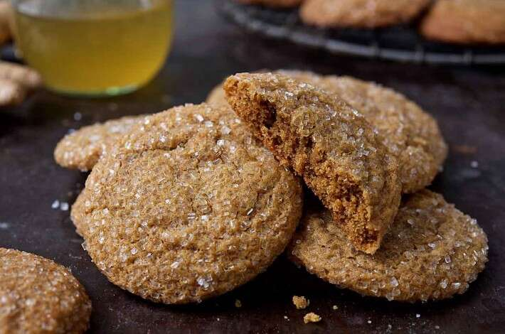 Soft Ginger-Molasses Cookies and Ginger Syrup