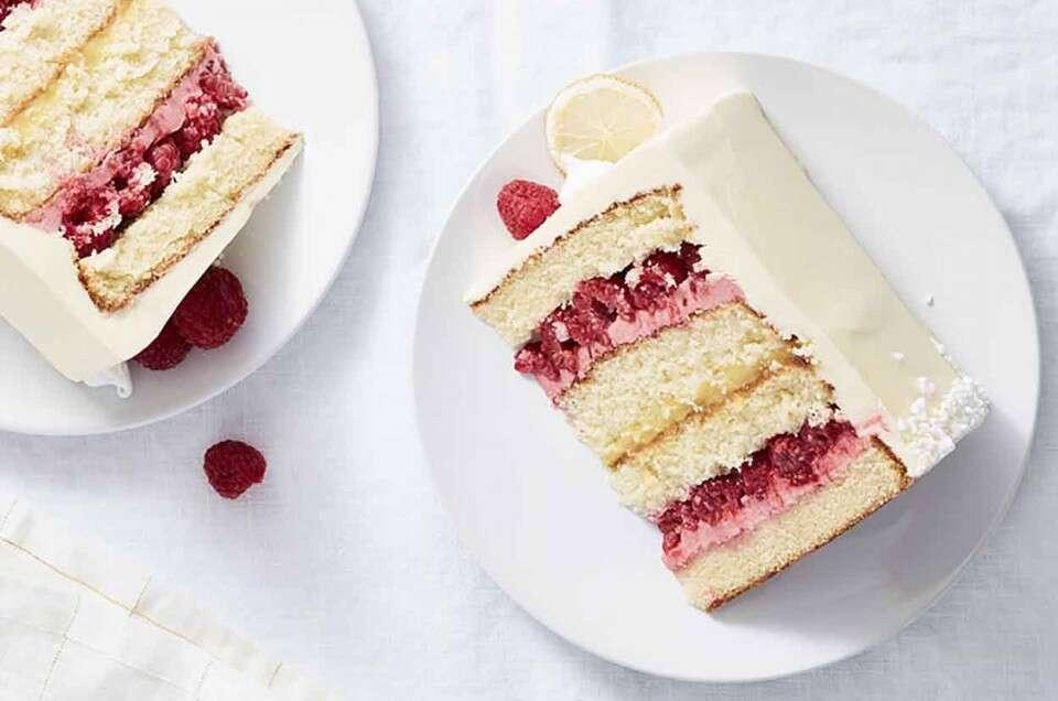 Brilliant Raspberry Lemon Cake King Arthur Flour Funny Birthday Cards Online Inifodamsfinfo