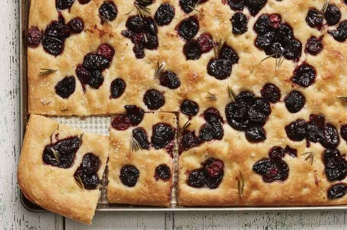 No-Knead Balsamic-Glazed Cherry Focaccia
