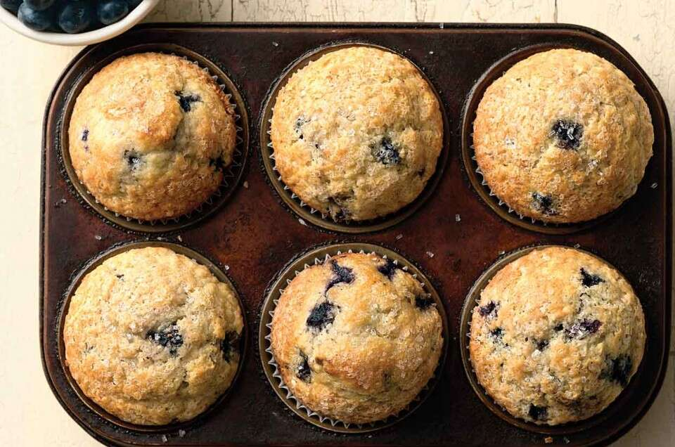 Easy Self-Rising Blueberry Muffins