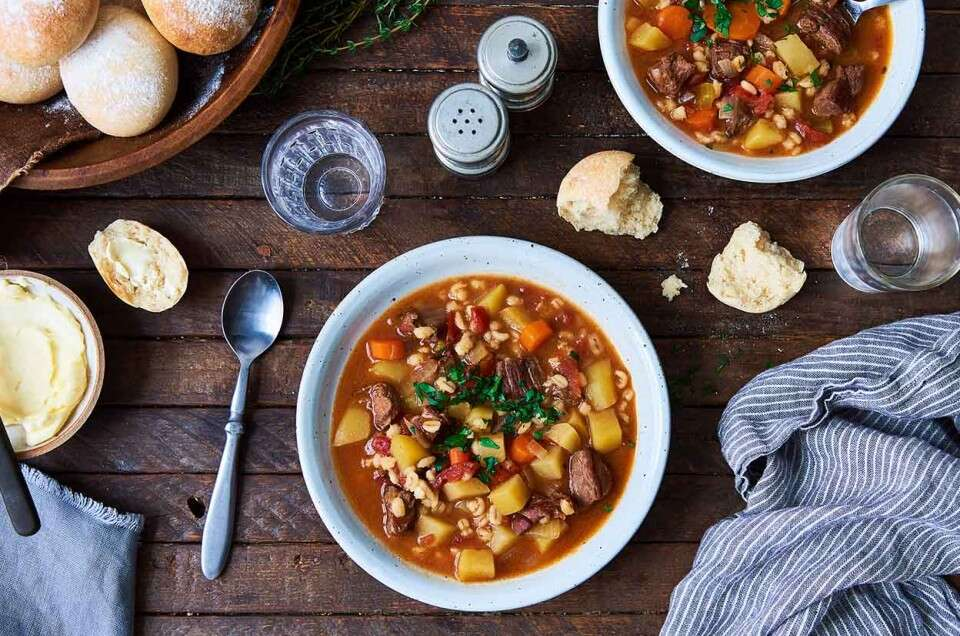 Beef & Barley Vegetable Soup