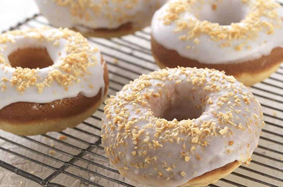 Gluten-Free Classic Baked Doughnuts made with baking mix - select to zoom
